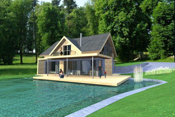 Moderný dom pri jazere