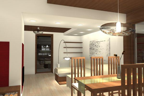 Interiér rodinného domu v Čilizskej Radvani