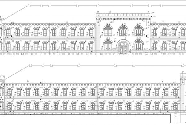Rekonštrukcia fasády Dôstojníckeho pavilónu v Komárne