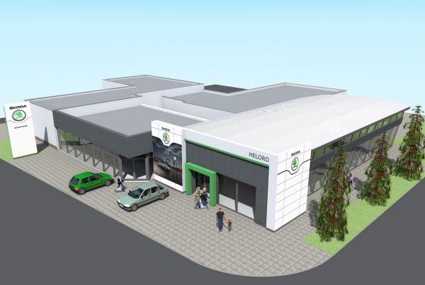 Autosalón Škoda v Komárne