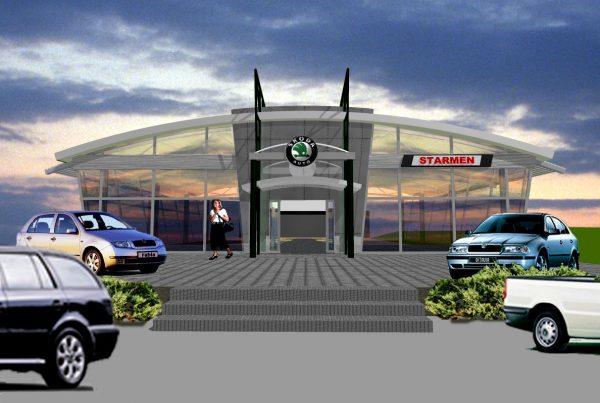 Autosalón Škoda v Zlatých Moravciach